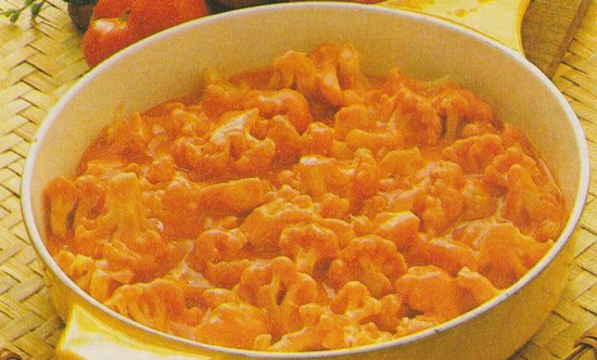 Chou-fleur en sauce rose