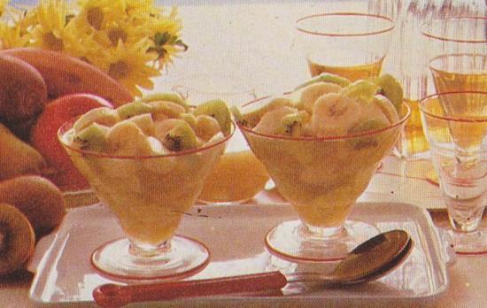 Coupes de fruits d'hiver