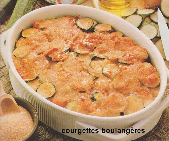 Courgettes Boulangères