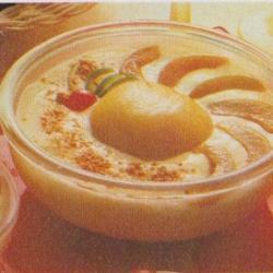 Crème tournesol aux pêches