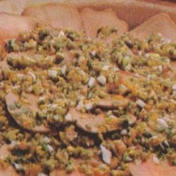 Langue de boeuf aux germes d'oignons