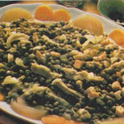 Lentilles au lard et saucisse fumée