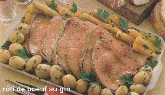 Rôti de bœuf au gin