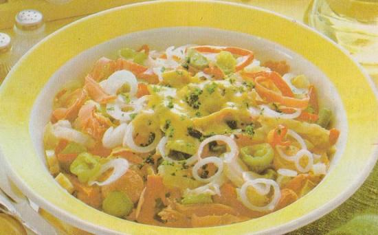 Salade mixte au museau
