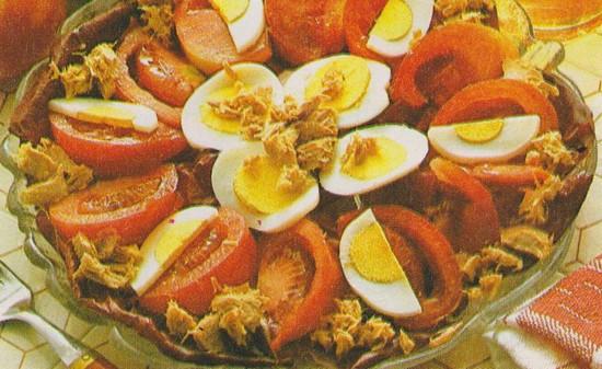 Salade de tomates au thon