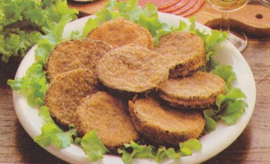 Beignets d'aubergines au saucisson