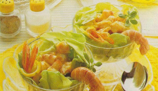 Coupes aux fruits de mer