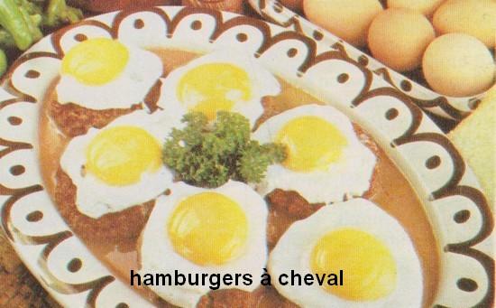 Hamburgers à cheval