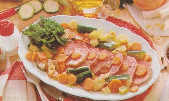 Langue de veau aux petits légumes