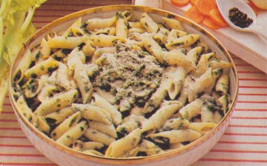 Macaronis aux épinards