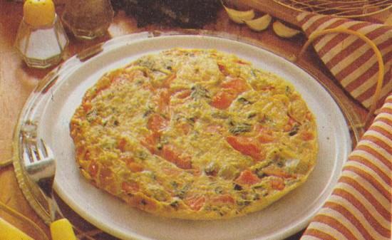 Omelette à la piperade
