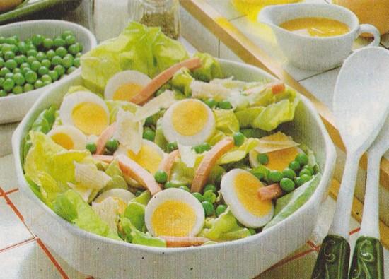 Petits pois en salade