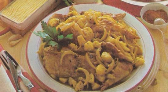 Pintade au curry