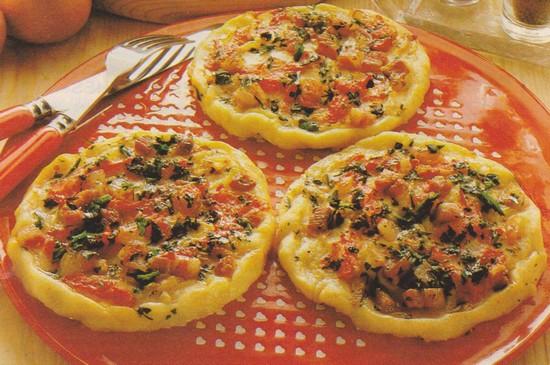 Pizzettes de pommes de terre