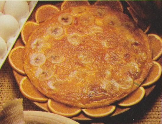 Tarte renversée aux bananes et à l'orange